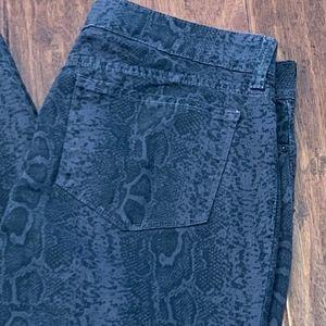 NYDJ Sheri Python Skinny Jeans, Size 12
